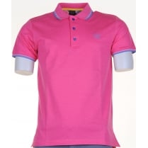 Quality Italian Cotton Polo Shirts in Pink or Blue