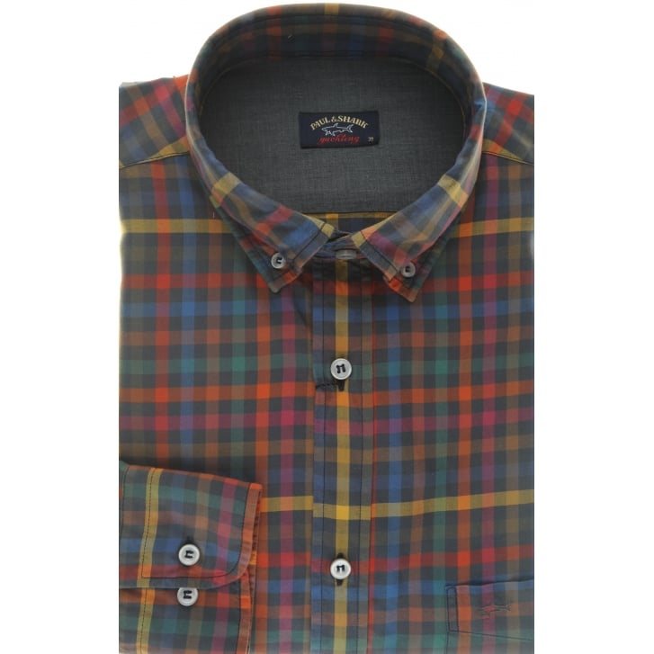 PAUL & SHARK Quality Long Sleeved Multi Check Shirt