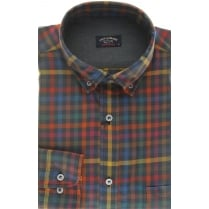 Quality Long Sleeved Multi Check Shirt