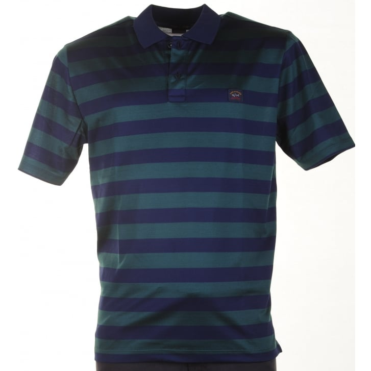 PAUL & SHARK Quality Organic Cotton Pique Striped Polo Shirts