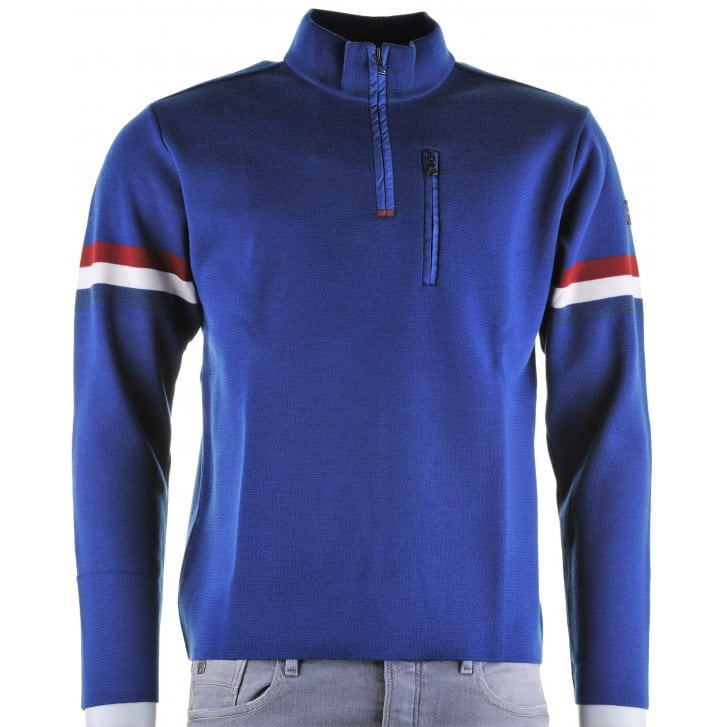 PAUL & SHARK Royal Blue 1/4 Zip Fashion Knitwear