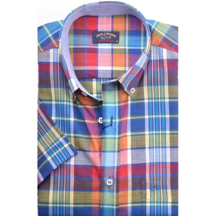 PAUL & SHARK Short Sleeved Cotton Check Shirt
