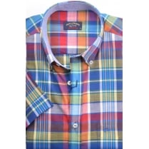 Short Sleeved Cotton Check Shirt