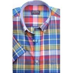 Short Sleeved Cotton Check Shirt