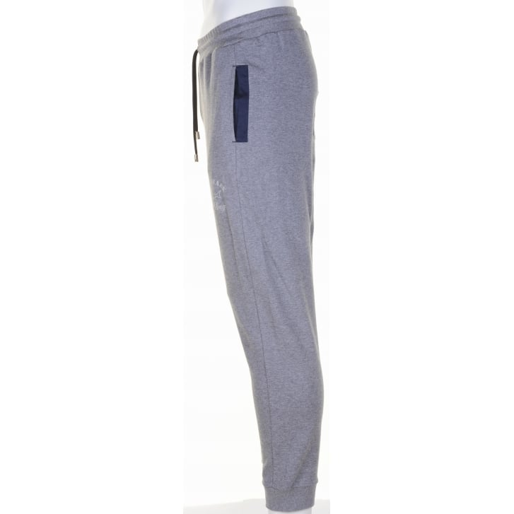 PAUL & SHARK Slim Fit Grey Cotton Jogging Bottoms