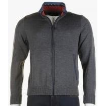 Slim Fit Zipped Cardigan in Grey or Blue