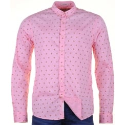 Pink Cotton Fine Oxford Patterned Shirt