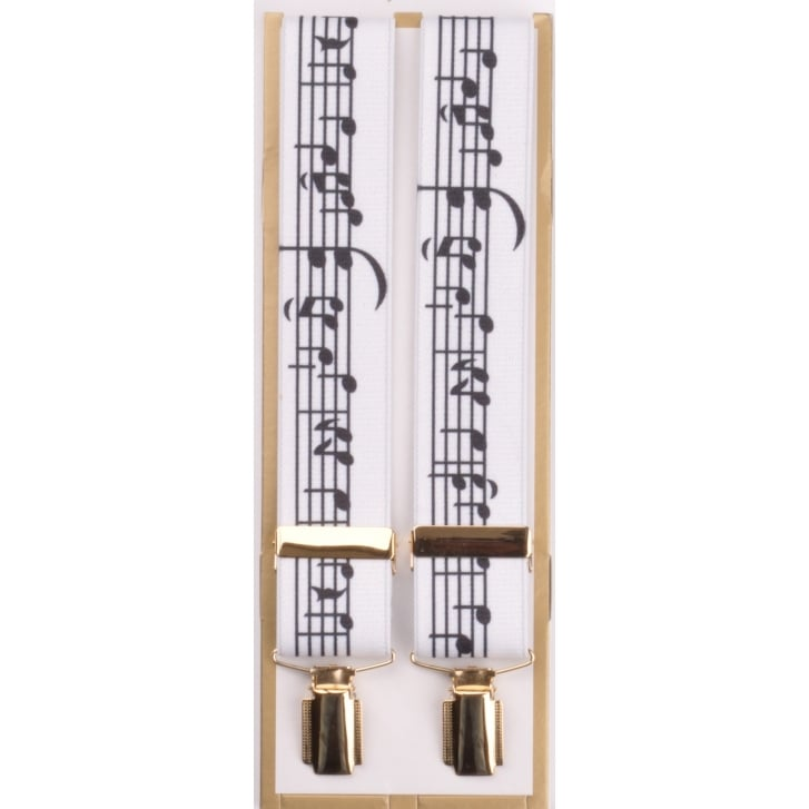 PL SELLS Adjustable Braces with Music Notes