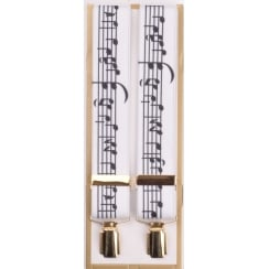 Adjustable Braces with Music Notes
