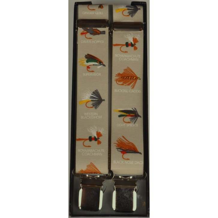 PL SELLS Adjustable Clip Braces with Fishing Flies on