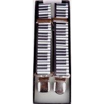 Adjustable Clip Braces with Piano Keys