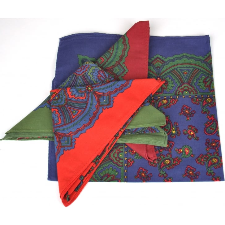 PL SELLS Paisley Cotton Handkerchiefs in Choice of 4 Colours
