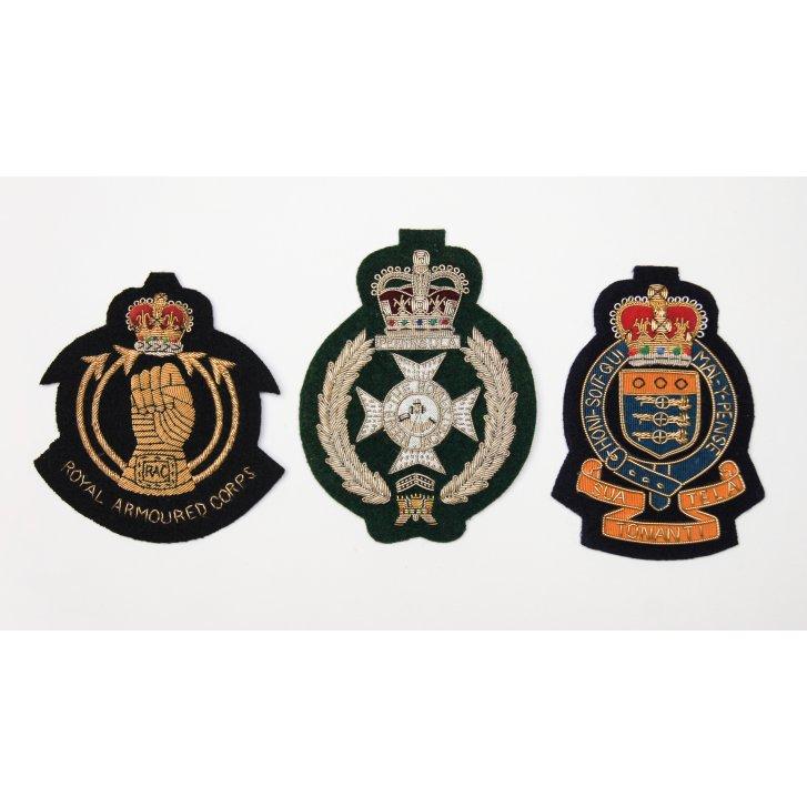 PL SELLS Regimental Woven and Wired Blazer Pocket Badges