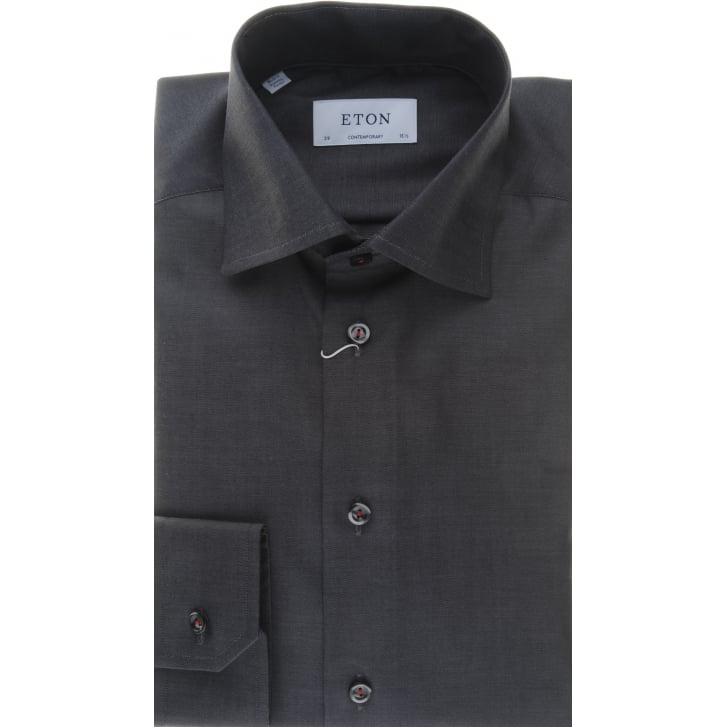 ETON Pure Cotton Grey Shirt in a Tailored Fit