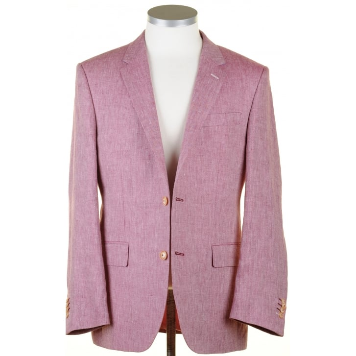 SANTINELLI Pure Linen Summer Jacket in Gold or Raspberry