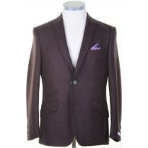 Red and Grey Spotted Sports Jacket in Zignone Cloth