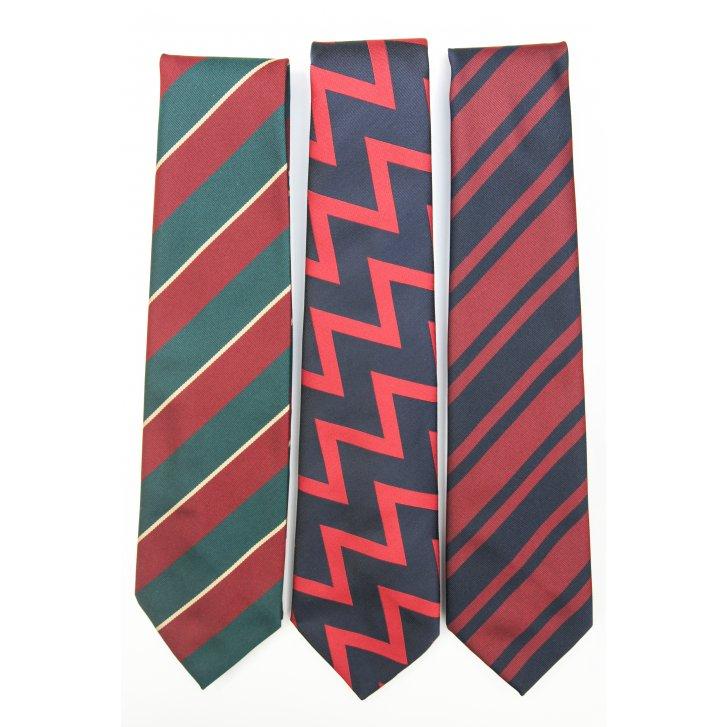 PL SELLS Regimental Polyester Striped Tie
