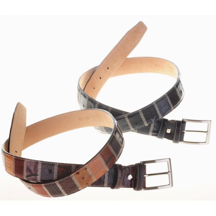 ROBERT CHARLES Assorted Skin Patchwork Belts