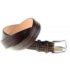 Skin Style Leather with Chrome Buckle Belt