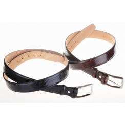 Snakes Skin Leather Chrome Buckle Belt