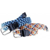 Woven Fancy Stretch Belts with Leather Ends