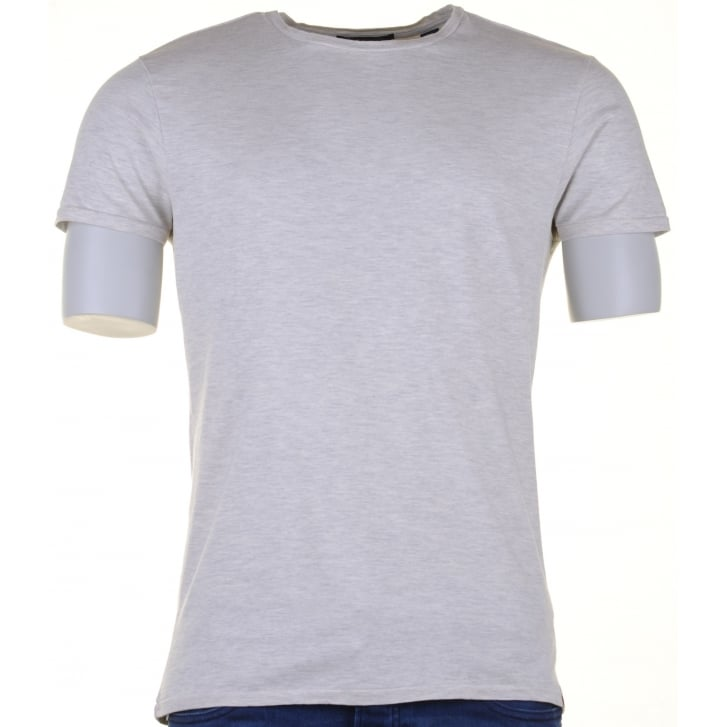SCOTCH & SODA Round Neck Cotton Grey T Shirt