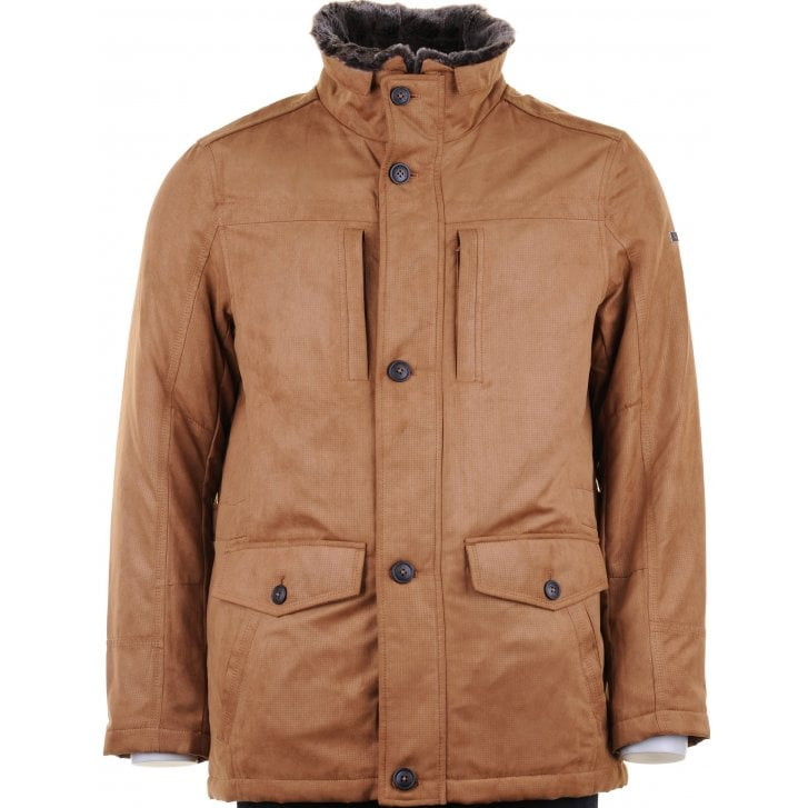 S4 Water Repellent Padded Tan Coat