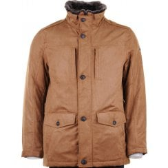 Water Repellent Padded Tan Coat
