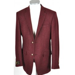 Mens Shetland Type Tweed Jacket in Wine