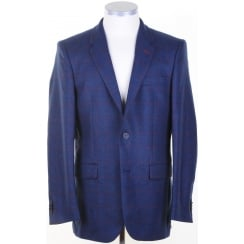 Wool and Cashmere Blue Tweed Jacket