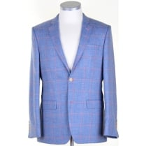 Wool, Silk, and Linen Blue Summer Jacket