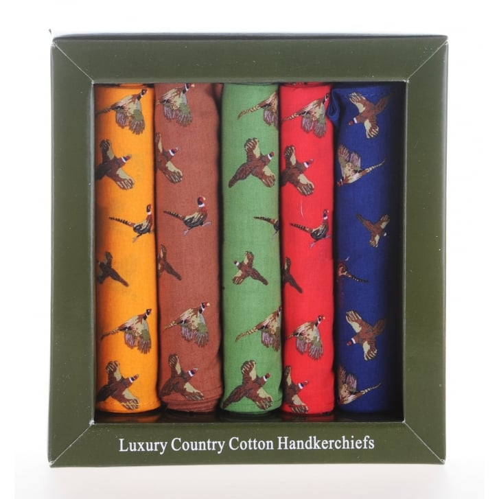 SAX Five Cotton Bird Print Boxed Hanks