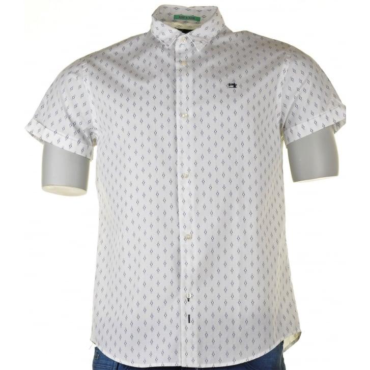 SCOTCH & SODA Shirt S/s Pattern White