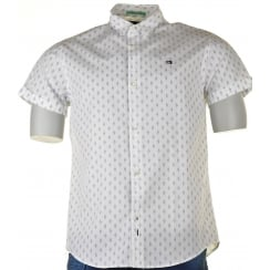 Shirt S/s Pattern White