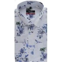 SEIDENSTICKER Button Down Collar Animal Print Cotton Shirt