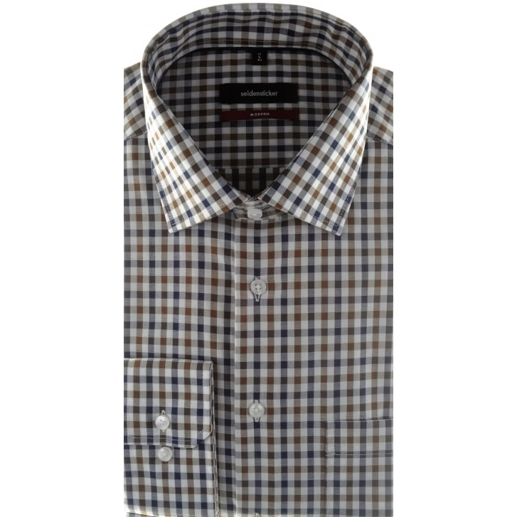 SEIDENSTICKER Non Iron Cotton Check Shirt