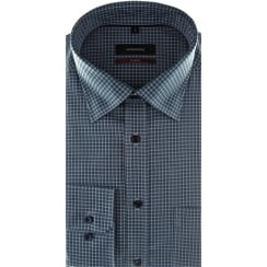 Small Check Shirt with Button Under Collar