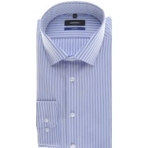 Tailored Blue Stripe Non Iron Cotton Shirt