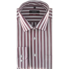 Wine Butchers Stripe Cotton Shirt