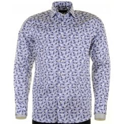 Cotton Tailored Shirt in Dragonfly Pattern