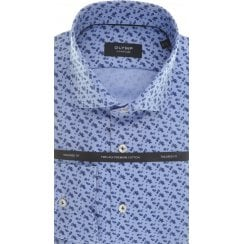Cotton Tailored Shirt with Neat Flower Design