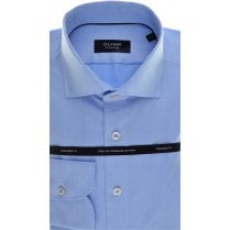 Tailored Shirt by Olymp in Blue Cotton with Neat Spot Design