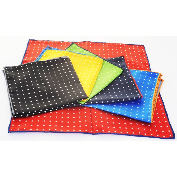 HEMLEY Silk Spotted Pocket Squares