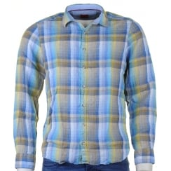 Slim Fit Linen Summer Check Shirt