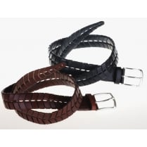 Stylish Black or Brown Leather Belt