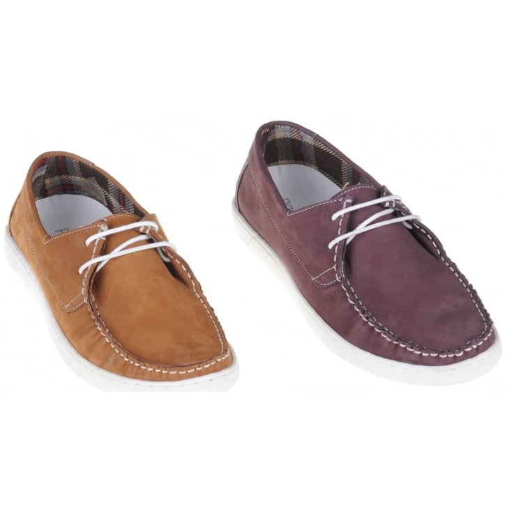 PAOLO VANDINI Stylish Laced Deck Shoe in Wine or Tan Nubuck