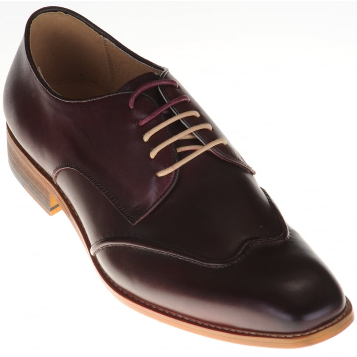 JUSTIN REECE Stylish Wine Leather Shoes
