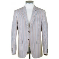 Summer Striped Jacket in a Linen Mix