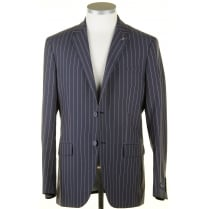 Summer Weight Striped Blazer in a Wool Poly Mix