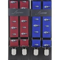 Aston Martin Braces in Wine or Indigo